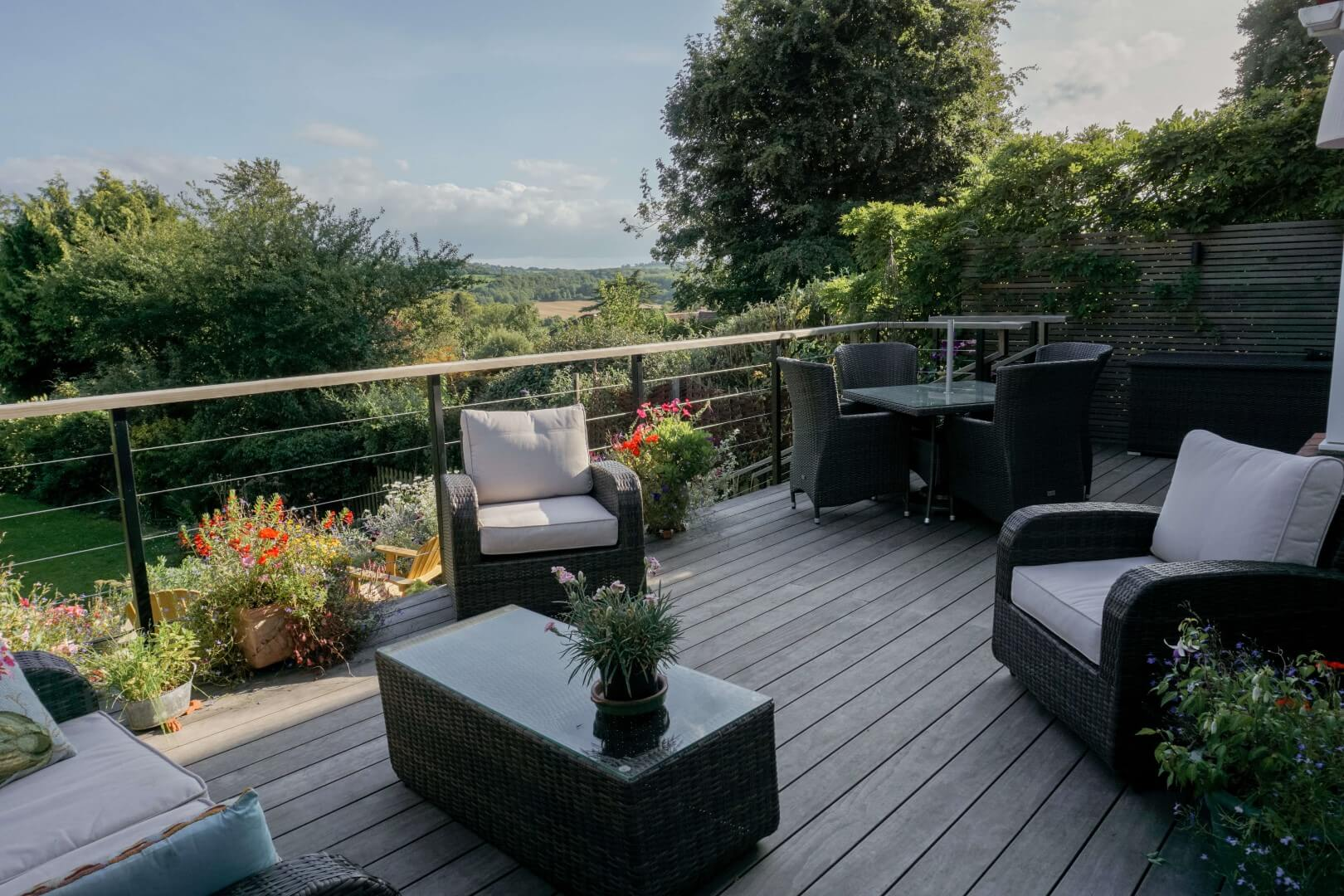 NORTH SOMERSET LARGE DECK AND RURAL LANDSCAPE